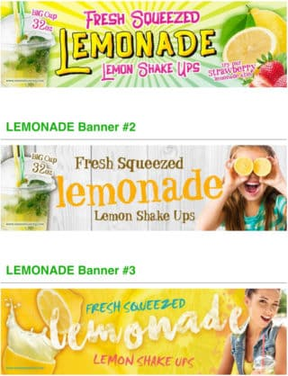 lemonade banners vending